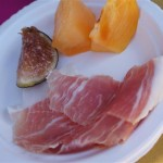 Chef Gino Angelini of Angelini Osteria's prosciutto with fig and melon at Pier del Sol