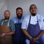 Michael Cimarusti and Chef Sam Baxter of Providence and Connie & Ted's with his team at Pier del Sol