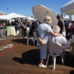 Happy couples, young and not-so-young enjoy Pier del Sol