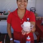 Dandy Don's strawberry ice cream at Pier del Sol