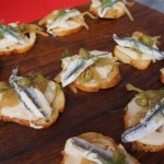 White sardine canape from Tripel/Hudson House