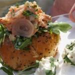 Scopa Italian Roots served an amazing seafood salad sandwich from Chef Antonia Lofaso of Scopa Italian Roots
