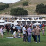 Saddlerock Ranch's Vineyards with food tents in the foreground
