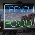 Neon sign  at Trois Familia