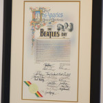 In proclamation of The Beatles