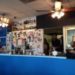 The counter at Trois Familia