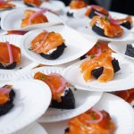 Status Kuo's Smoked Salmon with Lebneh Yogurt on Squid Ink Bread.  (Photo by The Offalo)