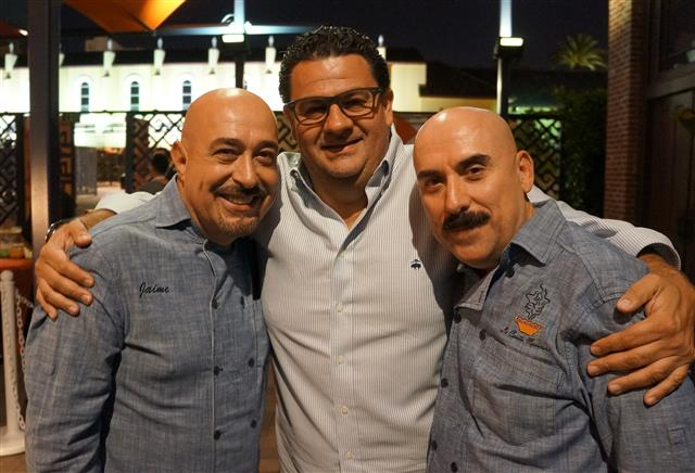 Chefs and founders Jaime Martin del Campo and Ramiro Arvizu of La Casita Mexicana at Taste of Mexico preview