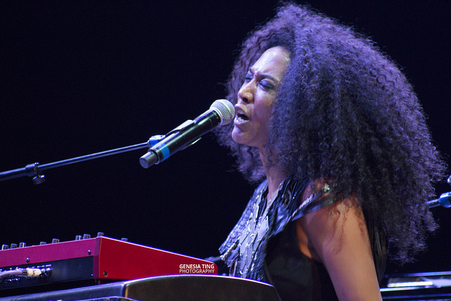 "Judith Hill performing at ""Earth In Concert."" Photo by Genesia Ting for the Los Angeles Beat."