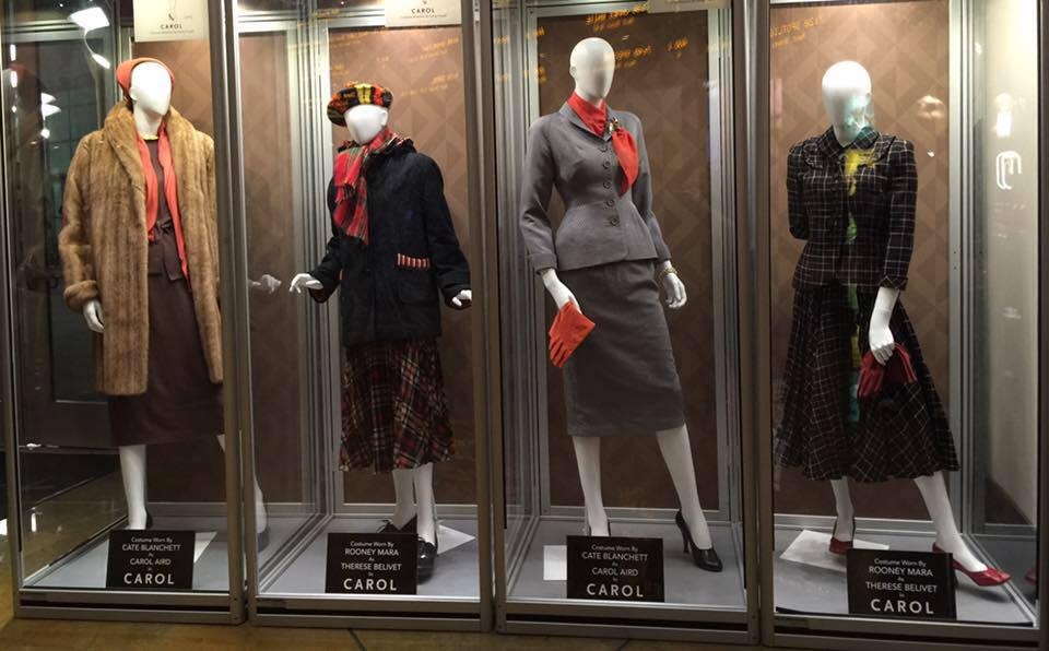 Carol costume exhibit Arclight