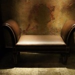 settee in the basement at Clifton's Cafeteria