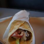A pita wrap