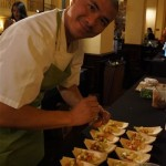 Michael Hung assembling his lobster parfait at Taste America