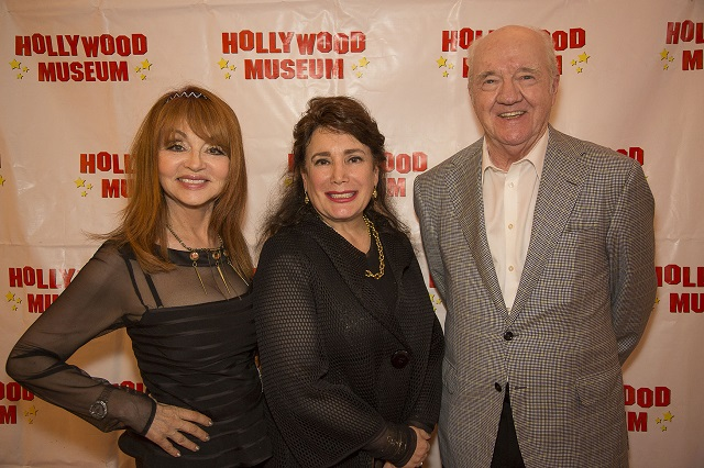 (L-R) Judy Tenuta, Hollywood Museum Founder Donelle Dadigan, and Richard Herd, Photo Courtesy of Bill Dow