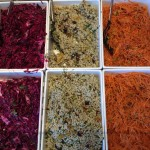 Slaw, cous cous and carrot salad