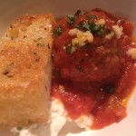 Marina-based Meatballs, Ricotta and Garlic Bread from Jon & Vinny's