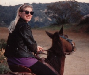 The author at Sunset Ranch, fresh out of Buffalo, half her life ago (photo by Amy Faber)