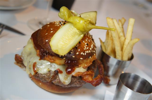 BBQ Bacon Cheeseburger Bourbon Steak