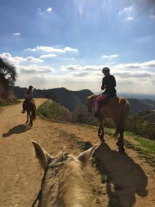 The author follows the Sunset Ranch guide (photo by Juliet Cesario)