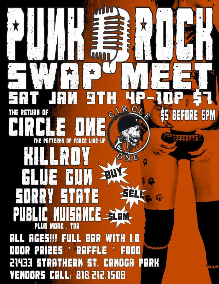 Punk Rock Swap Meet Today!