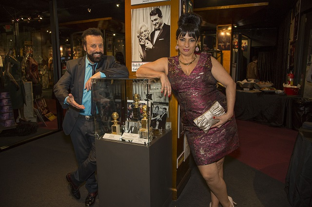 Yakov Smirnoff and Alice Amter with Golden Globes, Photo Courtesy of Bill Dow Photography
