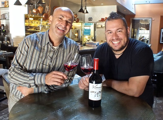 Ahmed and Chef Amar Toasting to Vaca with Sangria