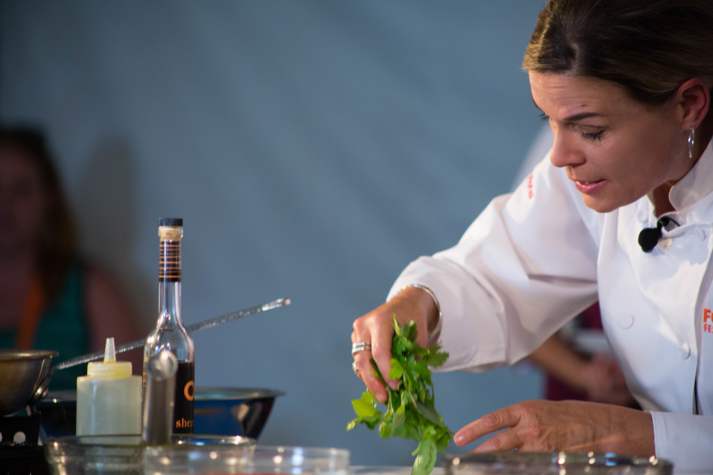 Cat Cora, Palm Desert Food & Wine (Photo by Dre Naylor)