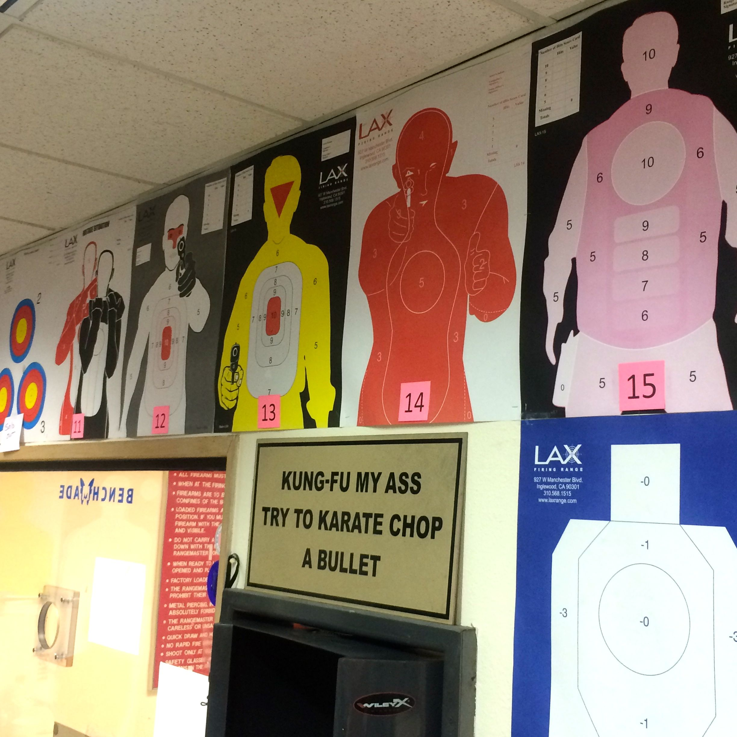 Available targets at the LAX Firing Range (photo by Nikki Kreuzer)