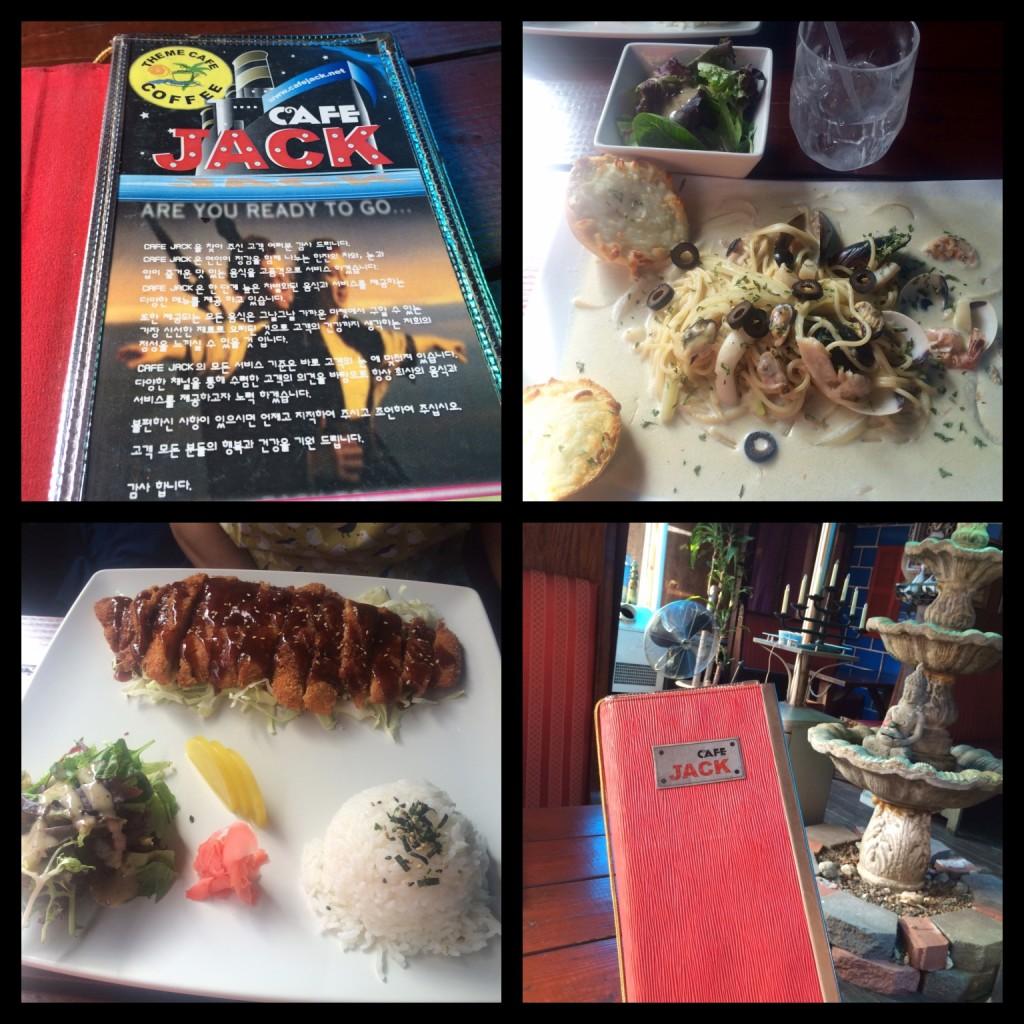 he menu at Cafe Jack features Chicken Katsu and Cream Pasta with Seafood (photos by Nikki Kreuzer)