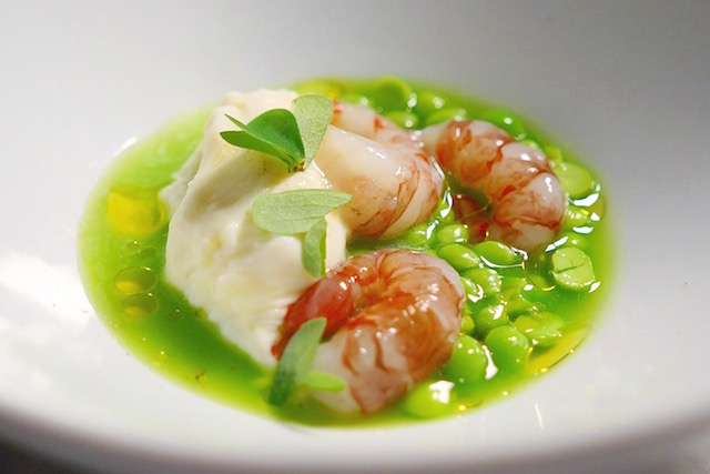 Prawns and Peas: ridgeback shrimp, peas, burrata (All photos by The Offalo)