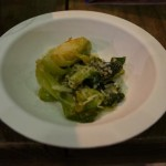 Pizza Antica's fried brussels sprout with chili, lemon and grana padano.