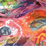 Just look at the display here; vibrant colors, psychedelic drawings, preachy quotes and some pretty nifty rock carvings.