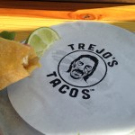 Once your done scarfing your taco, you have this to stare at and enjoy. Wholly satisfying after a delicious taco meal, I consider staring at Trejo's cartoon face on glossy paper the equivalent of a cigarette after sex.