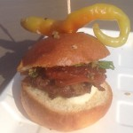 Hache LA Slider with Gecko (Just kidding, that's a chile)