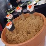Ayara Thai's Spicy Larb Salad in Squid Ink Cones