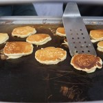 Flipping johnnycakes for Spare Tire