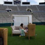 The field was gorgeously laid out with comfortable and elegant furniture