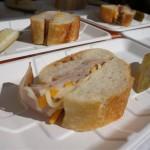 Audi Cornish -- country ham and sharp cheese, honey butter, cornichon vinagrette, and sea salt