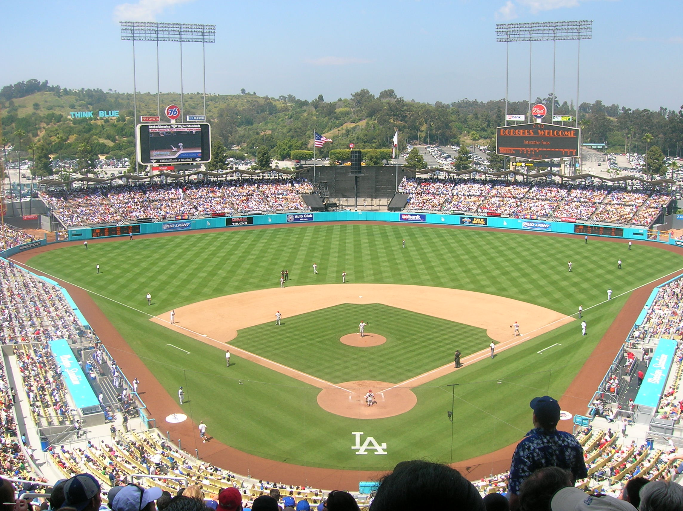 By Frederick Dennstedt from los angeles, usa (Dodger Stadium) [CC BY-SA 2.0 (http://creativecommons.org/licenses/by-sa/2.0)], via Wikimedia Commons