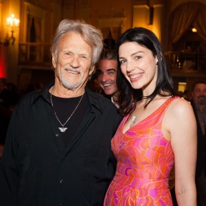 Kris Kristofferson and actress Jessica Pare