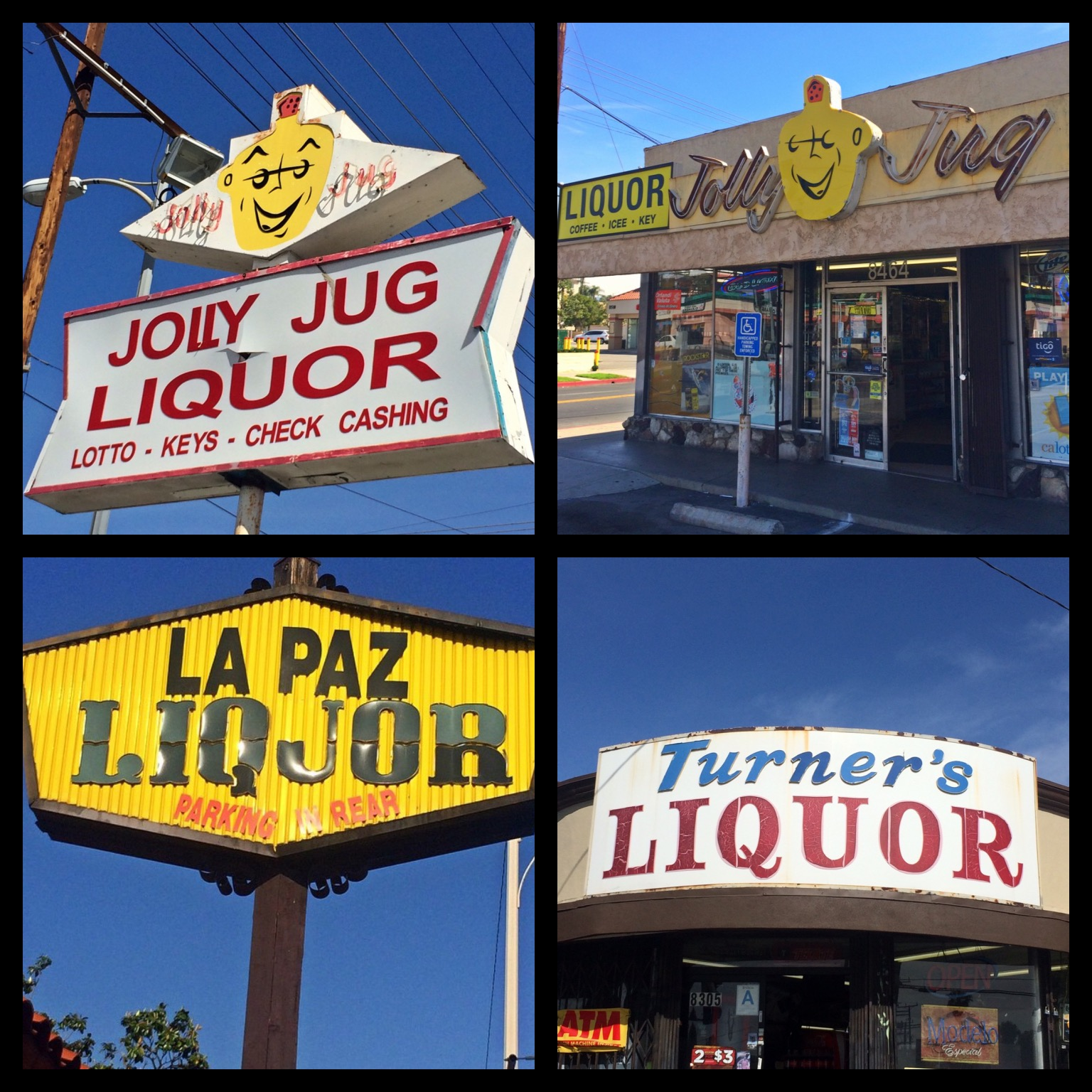 Jolly Jug Liquor was built in 1960 on Reseda Blvd in Reseda; La Paz Liquor on Magnolia Blvd in Burbank; Turner's Liquor on Balboa Blvd in Northridge