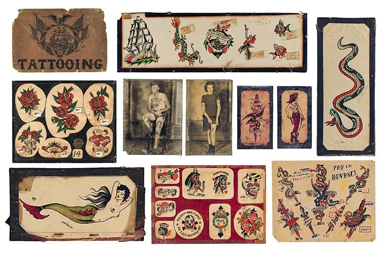 Vintage Tattoo Flash: 100 Years of Traditional Tattoos