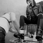 Bootblack Danielle get busy for the cause