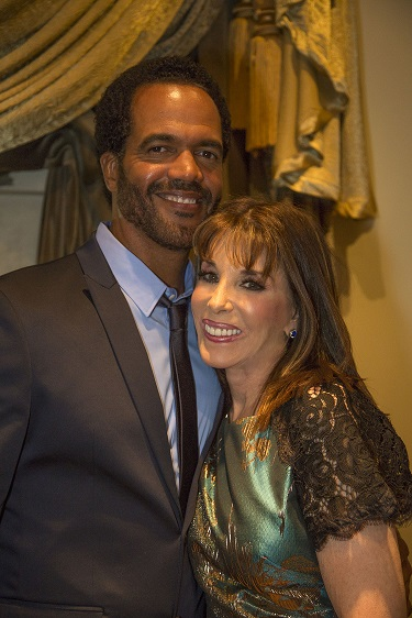 (L-R) Kristoff St. John and Kate Linder; Photo Courtesy of Bill Dow