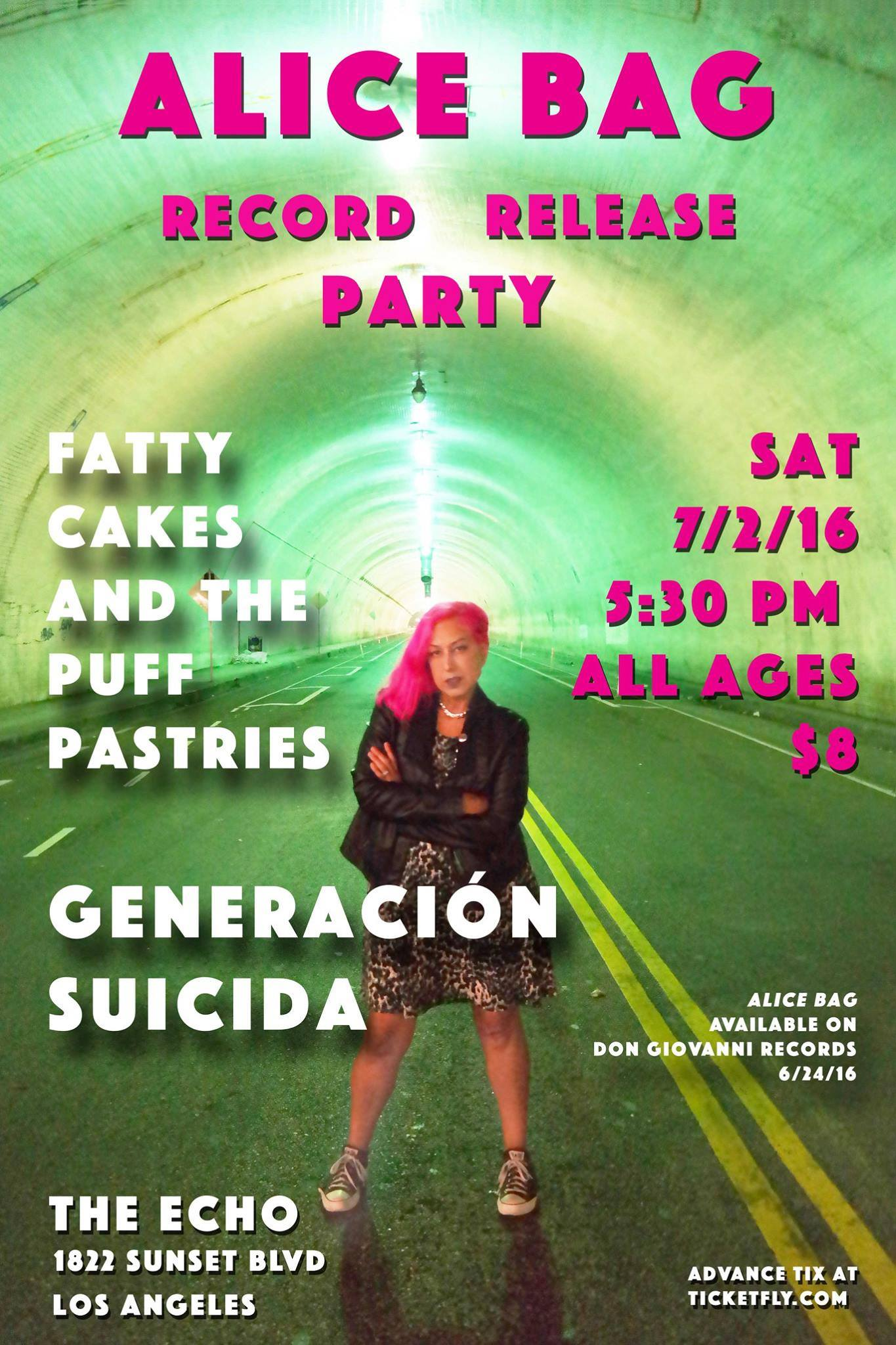 Alice Bag's Record Release Party 7/2/16