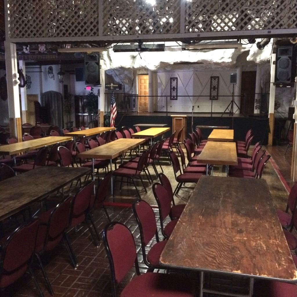 The banquet hall (photo by Nikki Kreuzer)