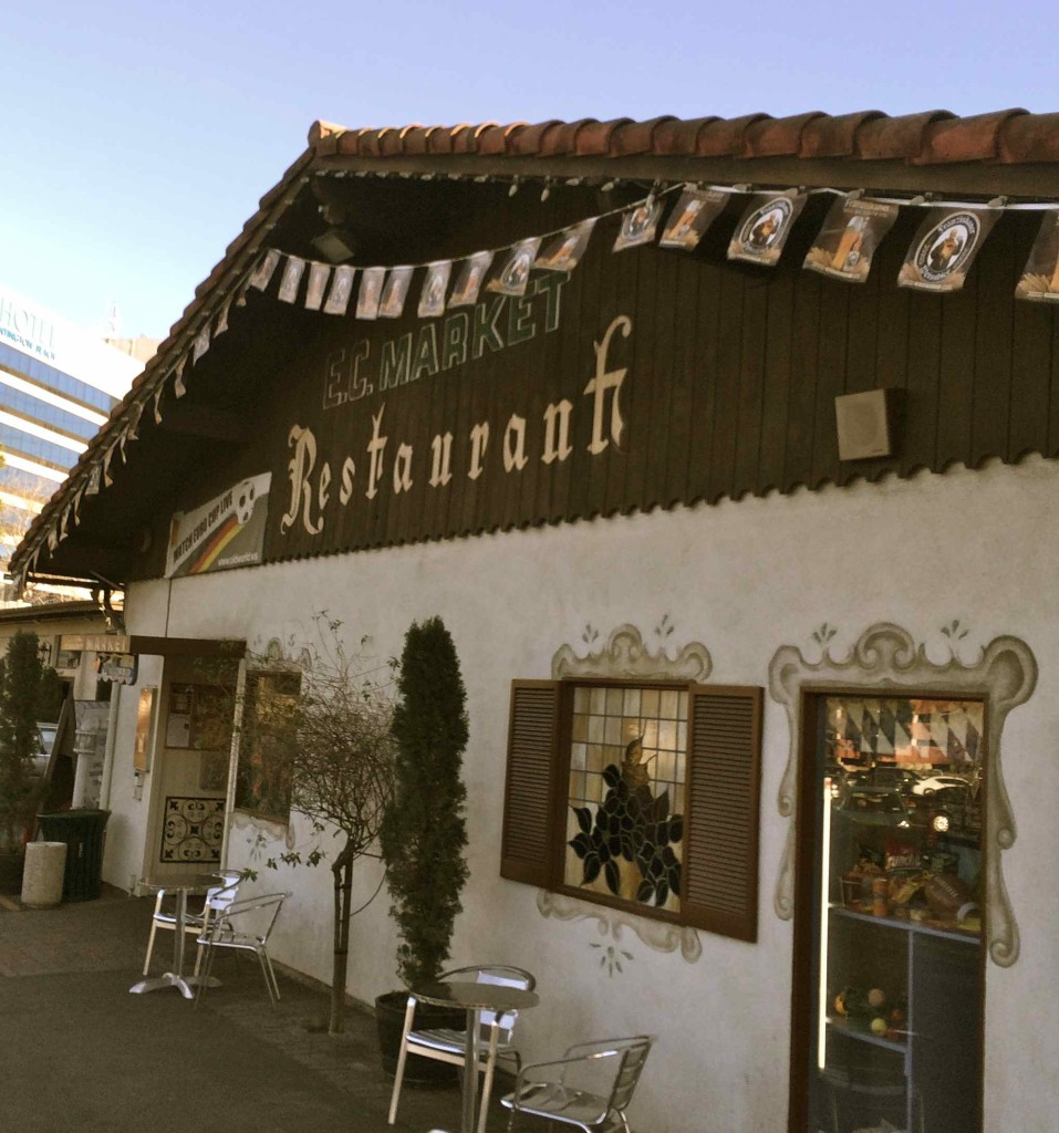 The front of the restaurant and attached food market (photo by Nikki Kreuzer)