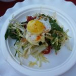Frisee with npork belly and quail egg from Prospect Gourmand