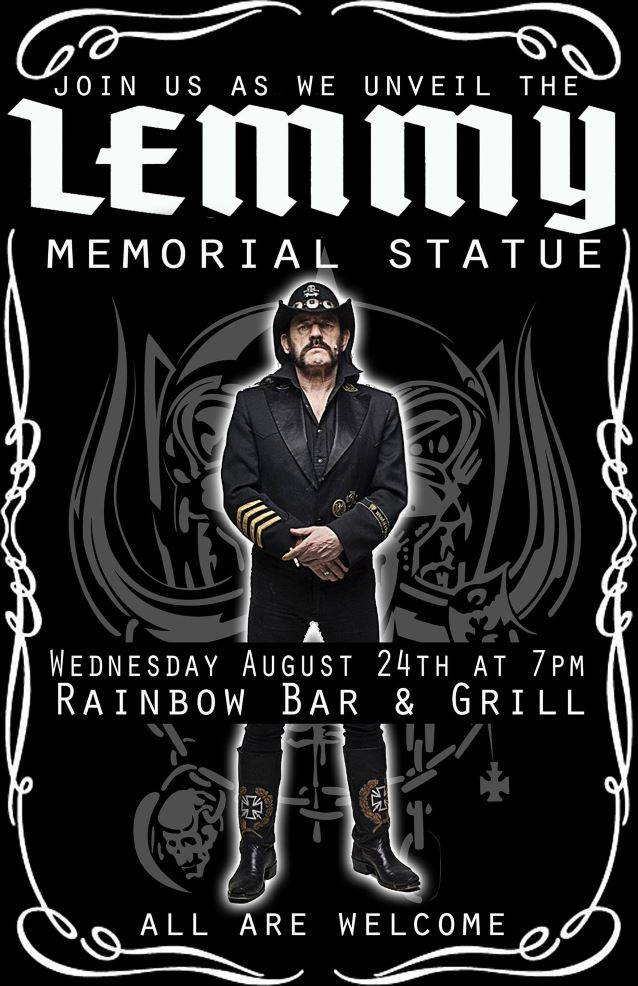 Lemmy Memorial Statue to be Unveiled at The Rainbow