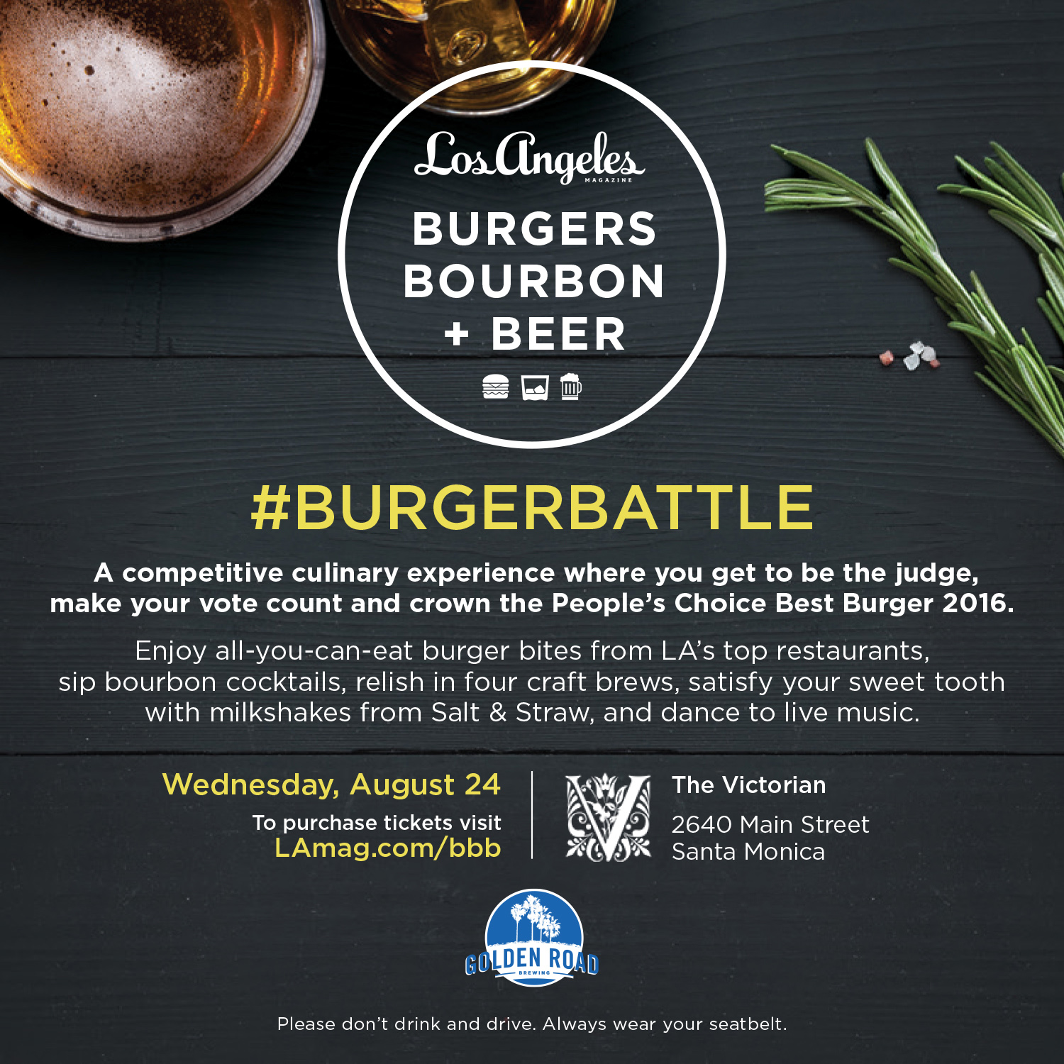 Burgers, Bourbon and Beer this Wednesday!